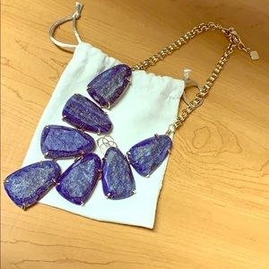 Blue & Gold Raw Cut Lapis Harlow Necklace